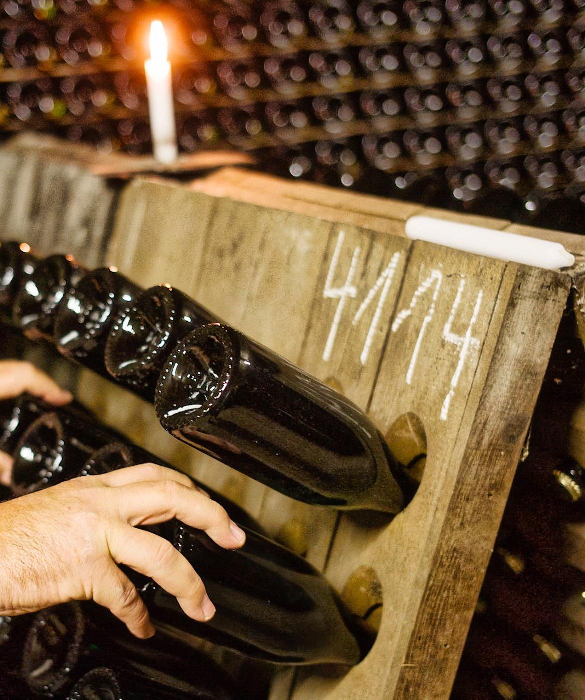 Sekt Traditionelle Flaschengärung handgerüttelt